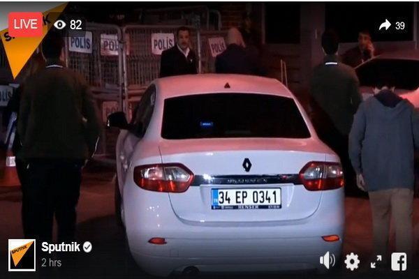 مقامات ترکیه به کنسولگری عربستان در استانبول وارد شدند