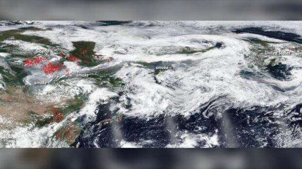 ردیابی دود آتش سوزی های جنگلی از سیبری تا کانادا