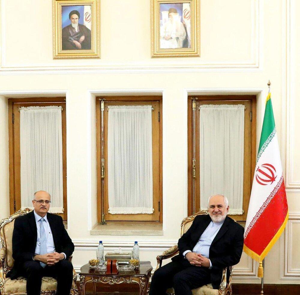 قائم مقام وزیرخارجه هند با ظریف دیدار کرد