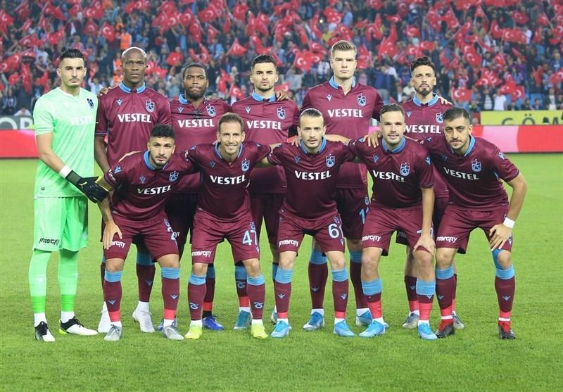 حسینی در جمع 11 بازیکن اصلی ترابزون اسپور مقابل کراسنودار در لیگ اروپا
