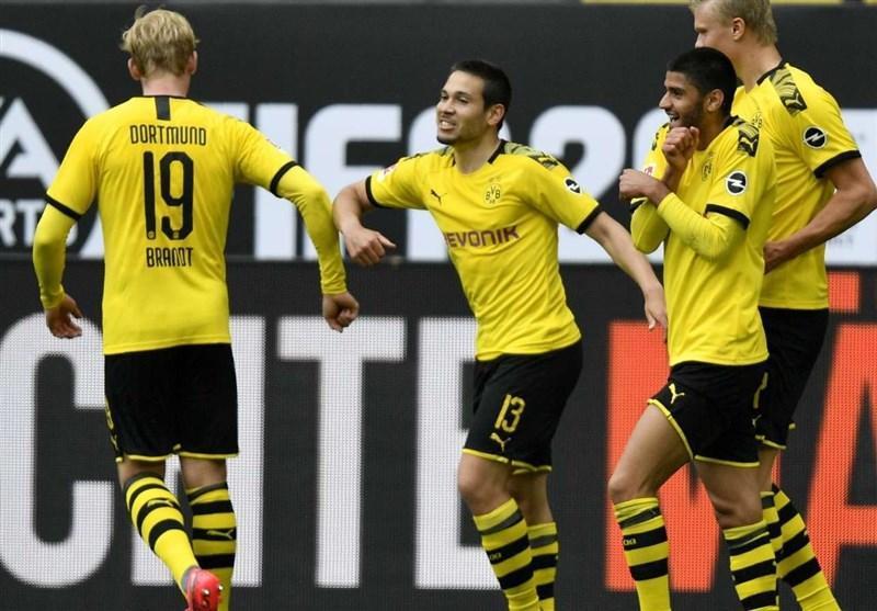 آتش بازی زنبورها در روز بازگشت فوتبال به آلمان، دورتموند قاطعانه دربی روهر را برد و به یکقدمی بایرن مونیخ رسید