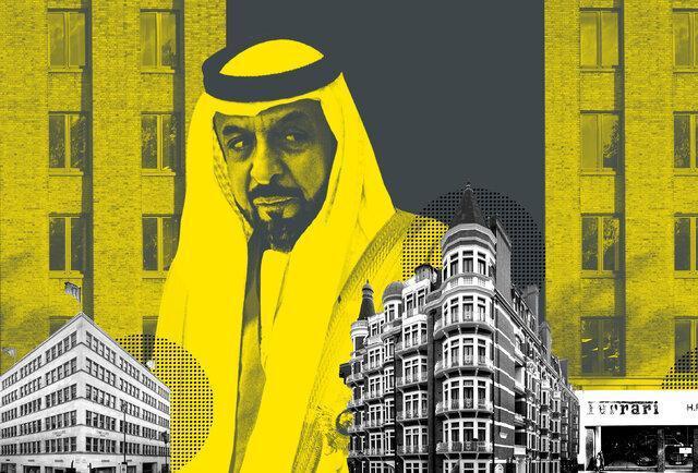 املاک 5 میلیارد پوندی شیخ خلیفه در لندن